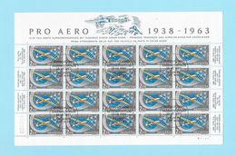 1938-1963 PRO AERO → Zierbogen Mit 20 Marken   ►SBK-FO46◄ - Poste Aérienne