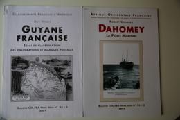"""Crombez """"Dahomey Poste Maritime"""" Et Venot """"Guyane"""" TB. - Colonies Et Bureaux à L'Étranger"""