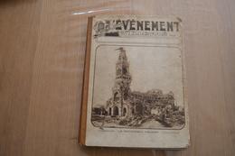 L'Evénement Illustré 1916/7: Guerre 14-18, Vilvoorde, Veurne, Locomotives, Karst - Reliure - Livres, BD, Revues