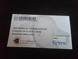 Ticket MUSEE Des BEAUX ARTS REIMS - Tickets - Vouchers