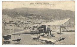 Meeting De MONACO - Avril 1913 - Aviateur BREGUET, Premier De La Course Croisière - Format 14 X 8.2 Cm - Non Classés
