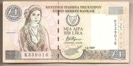 Cipro - Banconota Circolata Da 1 Lira P-57 - 1997 - Cipro