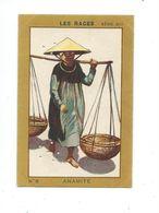 Chromo Indochine Vietnam ANNAMITE Anamite Les Races N° 8 Pub: Milliat 75 X 50 Mm TB - Cioccolato