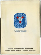 Chemise Cartonnée Vide Dossier D'informations Techniques Des Xèmes Jeux Olympiques D'Hiver Grenoble 1968 - Other