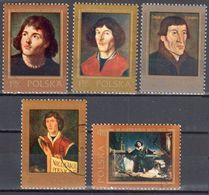 Poland 1973 - Nicolaus Copernicus - Mi 2232-36 - Used - Usados