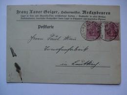 GERMANY - 1922 Postcard 1.25 Dm Inland Rate Meckenbeuren From Hafnermeister Harbour Master - Deutschland