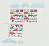 Sicherheit Für Kinder Im Straßenverkehr. /  MiNr.: 1954 (3 Marken) - BRD