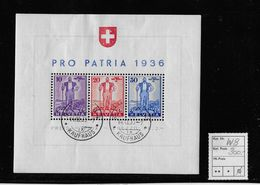 PRO PATRIA → Sonderblock (Eidg.Wehranleihe) → SBK-W8 Entwertet 14.XI.36 - Pro Patria
