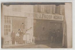 "1 Carte Photo à Identifier ?? "" Serrurerie Mécanique J.Fradier "" - A Identifier"