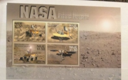 Niue 2007 SPACE NASA  PROJECTS SET IN SHEET MNH - Niue