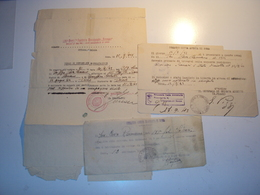 3 DOCUMENTI DEL 151 REGGIMENTO FANTERIA SASSARI SETTEMBRE 1943 E DA ROMA CITTà APERTA BELLI - Autographs