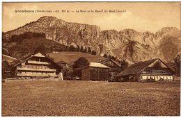 74 / ABONDANCE - Le Mont Et Le Massif Du Mont Chauffé - Abondance
