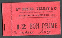 """Monnaie De Nécessité Carton """"1/8 Bon-Prime - Ets Rozier, Vernay & Cie - St Laurent-les-Macon (Ain)"""" Emergency Banknote - Bons & Nécessité"""