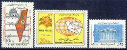 +D2647. Iran 1986. 3 Items. Michel 2164, 2088-89. MNH(**) - Iran