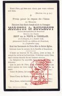 DP Adel Noblesse - Burg. Théodore J. Gonzague Moretus D Bouchout ° Edegem 1838 † Boechout 1909 X J. Vd Werve D Vorselaar - Devotion Images