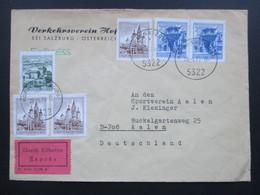 Österreich 1970 Expres Brief / Durch Eilboten P. Ann. 2-123 A. Verkehrsverein Hof Bei Salzburg. - 1945-.... 2. Republik