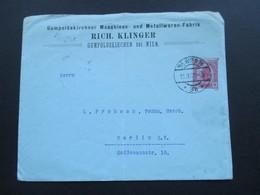 Österreich 1905 Privatganzsachen Umschlag Gumpolskirchner Maschinen Und Metallwaren Fabrik Rich. Klinger Gumpolsdkirchen - 1850-1918 Imperium