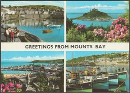 Multiview, Greetings From Mount's Bay, Cornwall, C.1980 - John Hinde Postcard - England