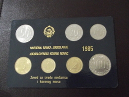 Yugoslav Coins Issue Year 1985  UNC, NATIONAL BANK OF YUGOSLAVIA - Yugoslavia