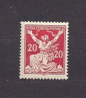Czechoslovakia 1920 MNH ** Mi 170 Sc 68 Czechoslovakia Breaking Chains To Freedom. Allegorie. Tschechoslowakei. - Neufs
