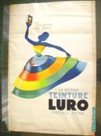 """LITHOGRAPHIE AFFICHE ANCIENNE  """" LURO """" - Publicité Signée BOURROUET  éléve De CASSANDRE  / 80 X 120 Cm  Années 30  ** - Affiches"""