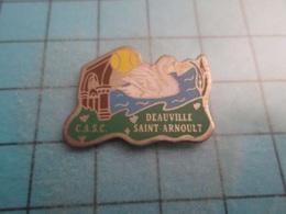 Pin710a Pin's Pins / Beau Et Rare : DEAUVILLE ST ARNOULT CALVADOS NORMANDIE La Vraie CYGNE BALLE DE TENNIS  , - Cities