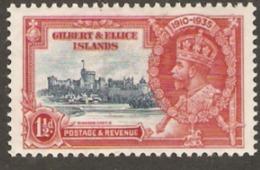 Gilbert & Ellice Islands  1935  SG 37  1,1/d Silver  Jubilee  Mounted Mint - Isole Gilbert Ed Ellice (...-1979)
