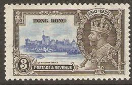 Hong Kong 1935  SG 133  3c  Silver Jubilee   Lightly Mounted Mint - Neufs