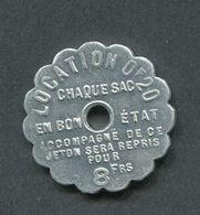 Rare Jeton De Nécessité - Bernot Frères Charbonnier - Bon Pour Un Sac Vide 8fr20 - Charbon - Rue Lafayette - Paris - Monetary / Of Necessity