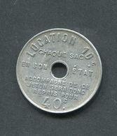 Rare Jeton De Nécessité - Bernot Frères Charbonnier - Bon Pour Un Sac Vide 50c - Charbon - Rue Lafayette - Paris - Monetary / Of Necessity