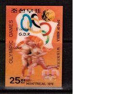 Korea-D.P.R.-1976,(Mi.1595),Football, Soccer, Fussball,calcio,MNH - Soccer