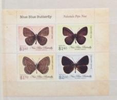 Niue 2013 BUTTERFLIES SET IN SHEET MNH - Schmetterlinge