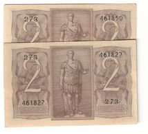 Italy 2 Lire 1939 Consecutives AUNC/SUP - Price For 1 Banknote - Prezzo Per 1 Banconota - [ 1] …-1946 : Royaume