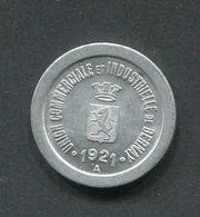 """Jeton De Nécessité """"5c Union Commerciale Et Industrielle De Bernay - Eure"""" Normandie - Emergency Token - Monetary / Of Necessity"""