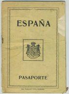 Passeport Espagnol Valable Pour La France. España. Pasaporte. Délivré à Santander En 1930. Ouvrier. - Documents Historiques