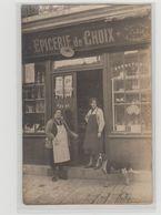 """1 Carte Photo à Identifier ?? """" épicerie De Choix Bonneterie M.Vasseur """" - A Identifier"""