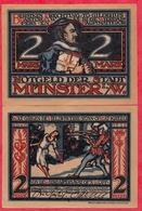 Allemagne 1 Notgeld 2 Mark  Stadt Munster état Lot N °40 - [ 3] 1918-1933 : Weimar Republic