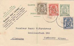 Belgique Entier Postal Pour L'Allemagne 1939 - Enteros Postales