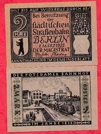 Allemagne 1 Notgeld 2 Mark  Stadt Berlin UNC Lot N °47 - [ 3] 1918-1933 : Weimar Republic