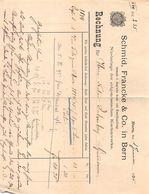 Schmid, Francke & Co. In Bern, Vormals J. Dalp'sche Buch Und Kunsthandlung,  Datiert 1895 - Suisse