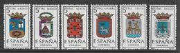SERIE NEUVE D'ESPAGNE - ARMOIRIES DE PROVINCE N° Y&T 1251 A 1256 - Stamps