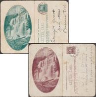 Australie 1913. 2 Cartes-lettres Touristiques. Russell Falls Tasmania. Parc National Du Mont Field - Géologie