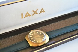 Watches : IAXA AUTOMATIC  ORIGANAL WITH BOX - Original -GOLD PLATED ? - Swiss Made - Running - Excelent Condition - Watches: Modern