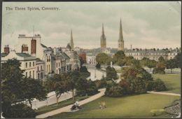 The Three Spires, Coventry, Warwickshire, C.1905-10 - David Burdett Postcard - Coventry