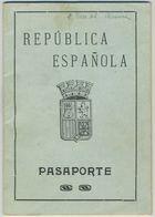 Passeport Espagnol Valable Pour La France. España. Pasaporte. Délivré à Barcelone En 1932. Catalogne. - Documents Historiques