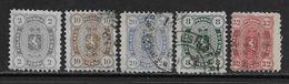 Finlande YT 13a, 15a, 16a, 19, 20 Neufs* Et Oblitérés (voir Description). - 1856-1917 Russian Government