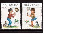 Colombia-1974,(Mi.1280-1281),  Football, Soccer, Fussball,calcio,MNH - Autres