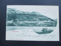 Österreich 1902 PK MiF Nr. 70 U. 71 Strichstempel Innsbruck 1 G.A Drucksache! Motiv St.Moritz Schweiz. Lautz U. Isenbeck - 1850-1918 Imperium