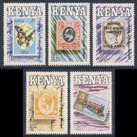 Kenia Kenya 1990 Mi 527 /31 ** Cent. Postage Stamps In Kenya / 100. Jahre Ersten Briefmarkenausgabe Britisch-Ostafrika - Sellos Sobre Sellos