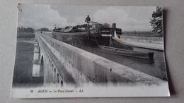AGEN - Le Pont Canal. - Agen